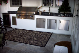 Kersting Residence Custom Outdoor Kitchen and Tilework